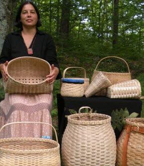 Baskets woven by Woodland Indian artisans are of amazing durability and beauty