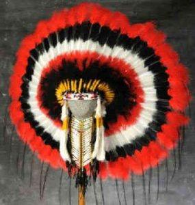 Photograph of a Choctaw Indian war bonnet