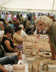 Woven baskets are a popular tribal product today