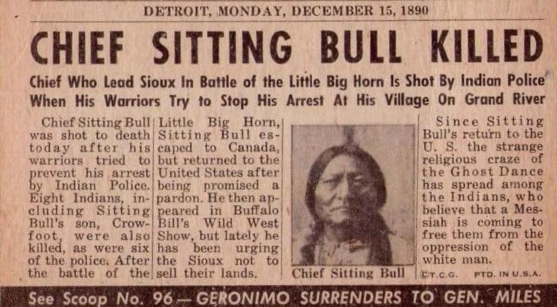 chief sitting bull killed
